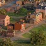 Models and buildings, showing a reconstructed idea of what Baltimore may have looked like in 1815.